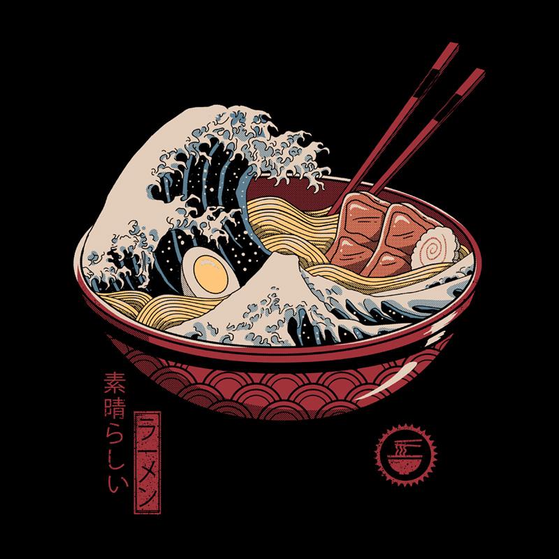 Camiseta Great Ramen Wave