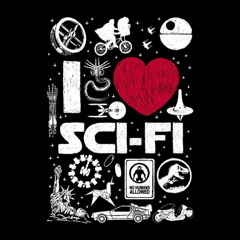 Camiseta I Love Sci-Fi
