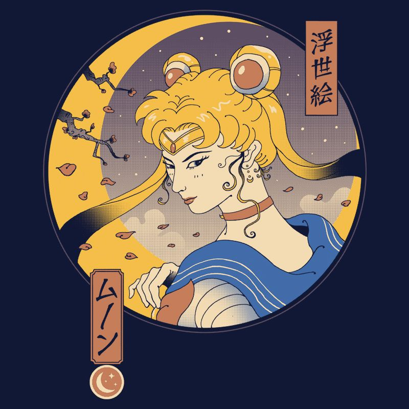 Camiseta Sailor Ukiyo-e