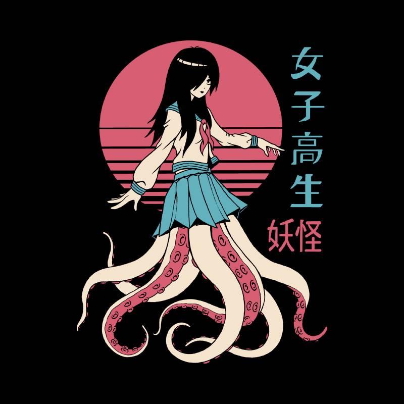 Camiseta Yokai School Girl