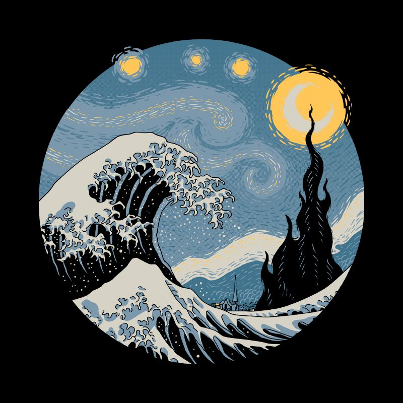 Camiseta The Great Starry Wave