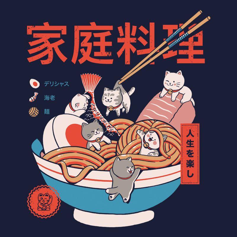 Camiseta Ramen and Minicats