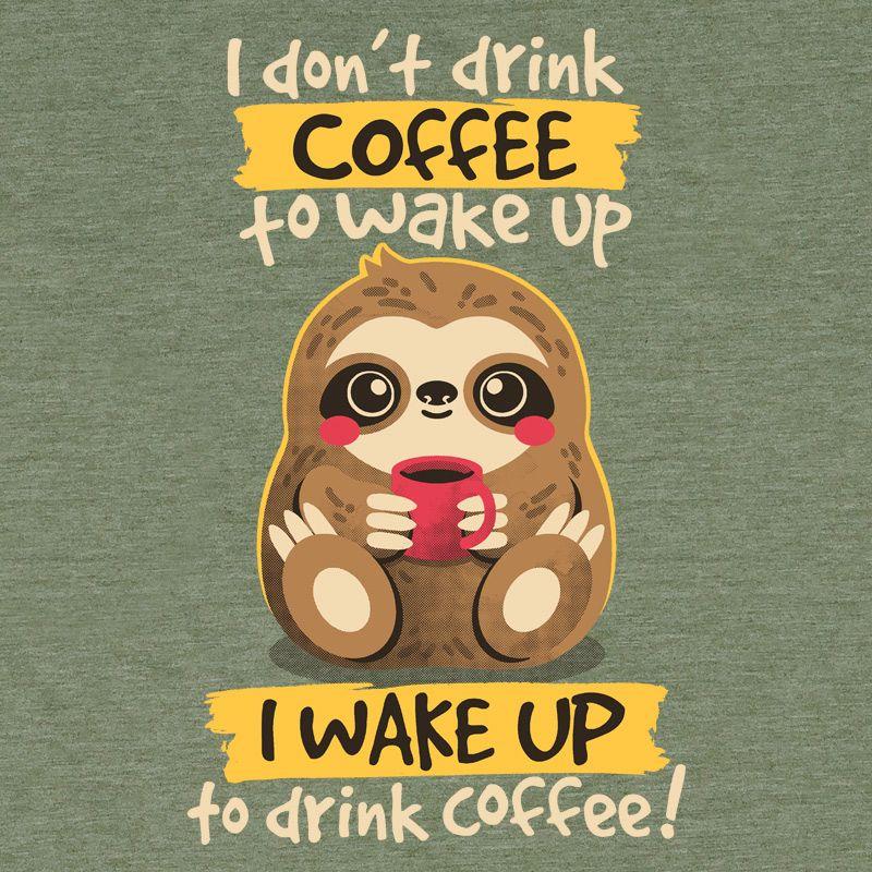 Camiseta Coffee Sloth